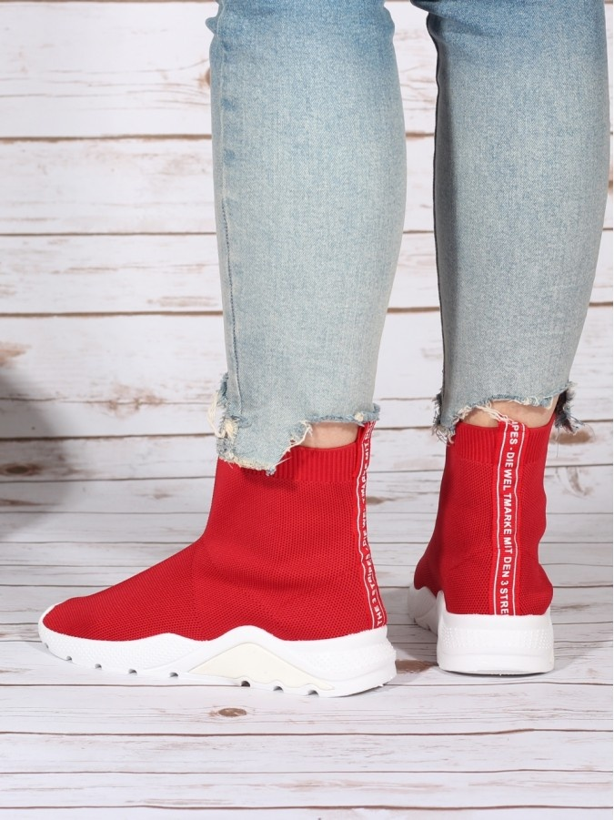 High Top Sneakers Bale Red