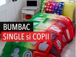 BUMBAC 100% SINGLE si COPII