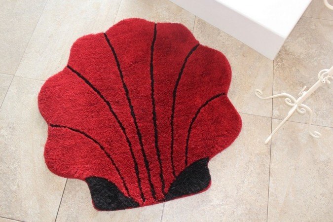 Covor Shell Red 90 cm